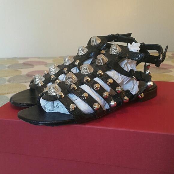 945d7e9b4f9f Balenciaga Shoes - Balenciaga Giant Studded Leather Sandals